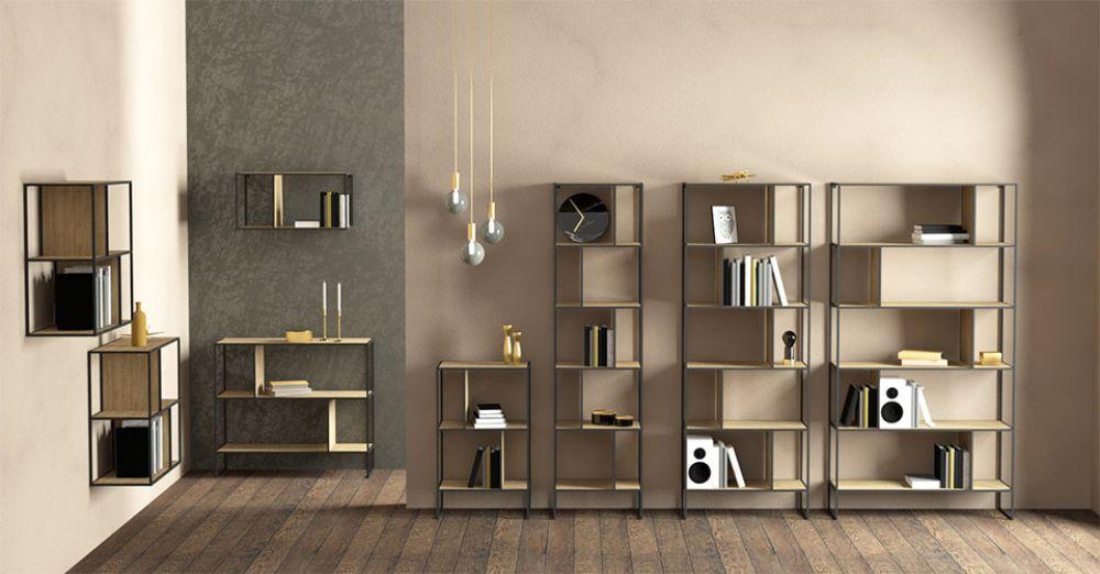 洗練されたデザインのオープン棚