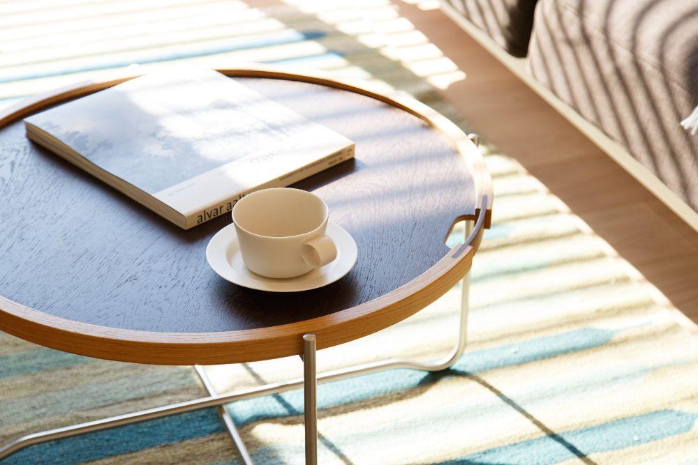 丸いコーヒーテーブル