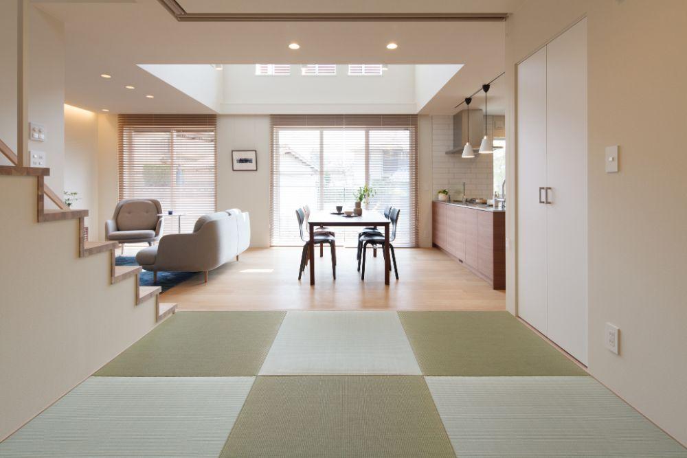 四角い畳を使用した和室