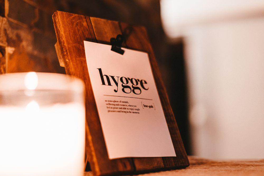 hyggeと書かれたボード