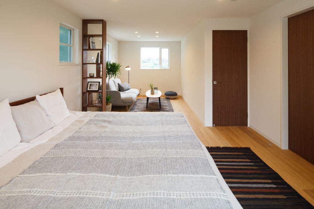 プライベートスペースのあるベッドルーム