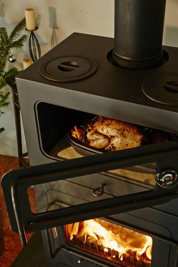 料理のできる暖炉