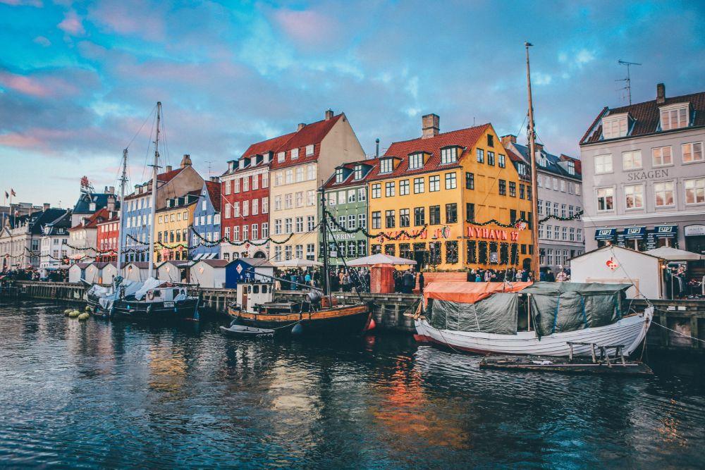 デンマークコペンハーゲンの街並み