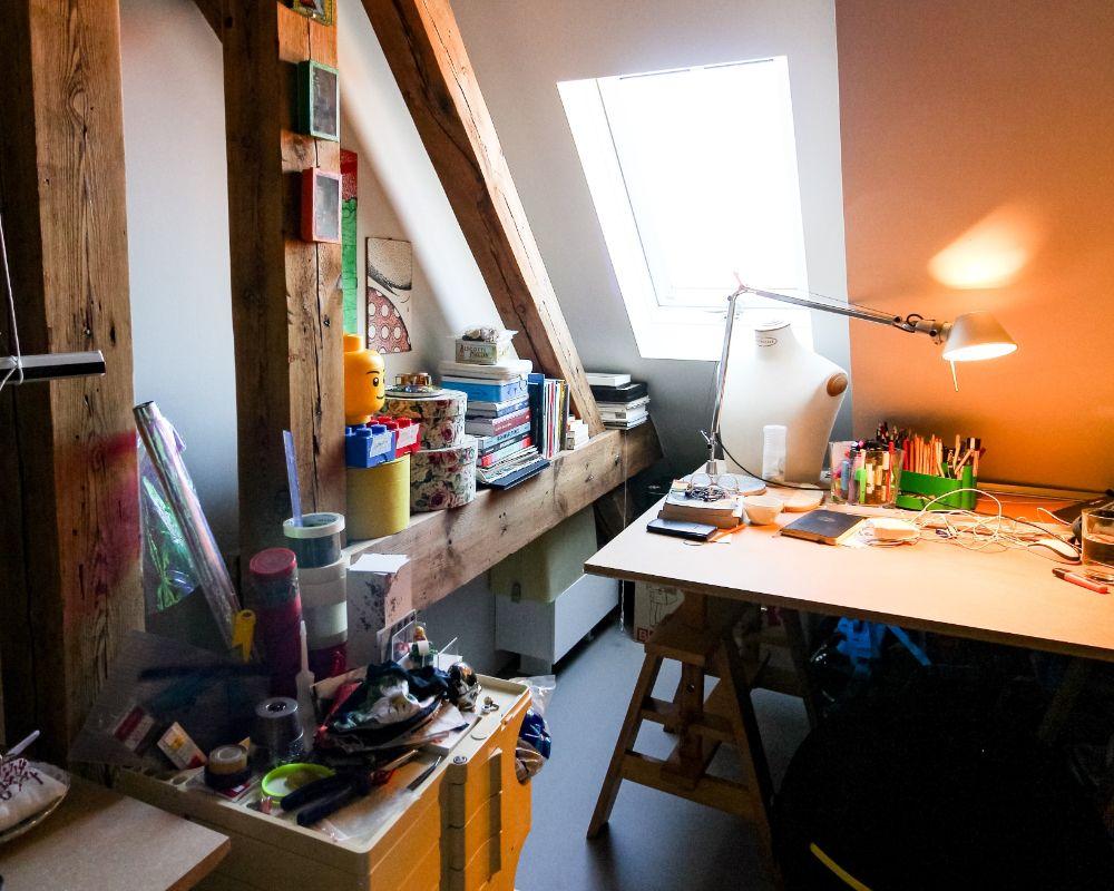 屋根裏部屋にある趣味の部屋