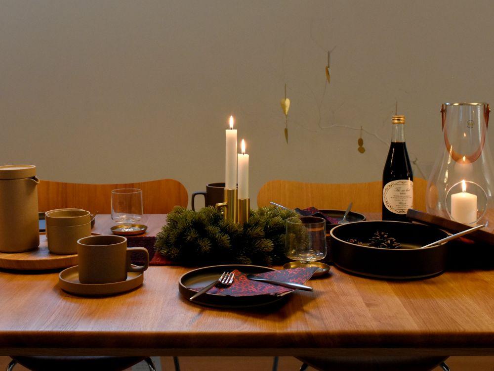 クリスマスをイメージしたテーブルコーディネート