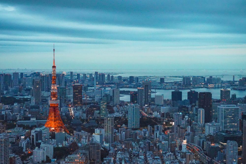 東京タワーの目立つ風景