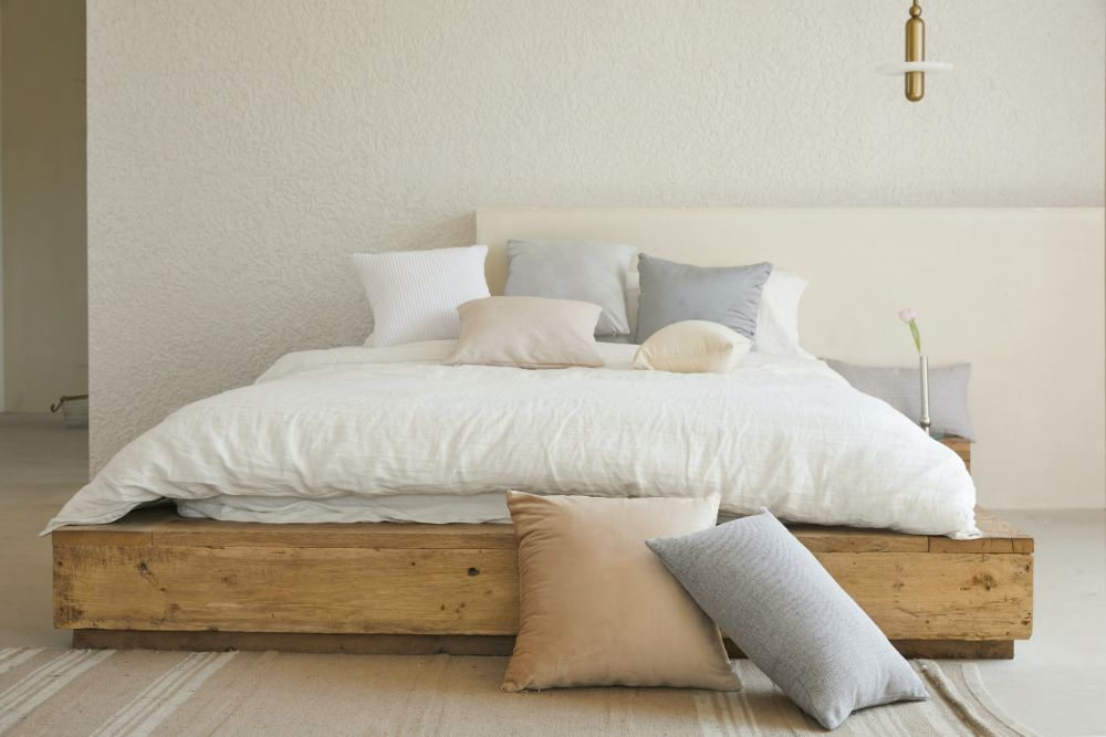 ナチュラルな雰囲気のベッドルーム