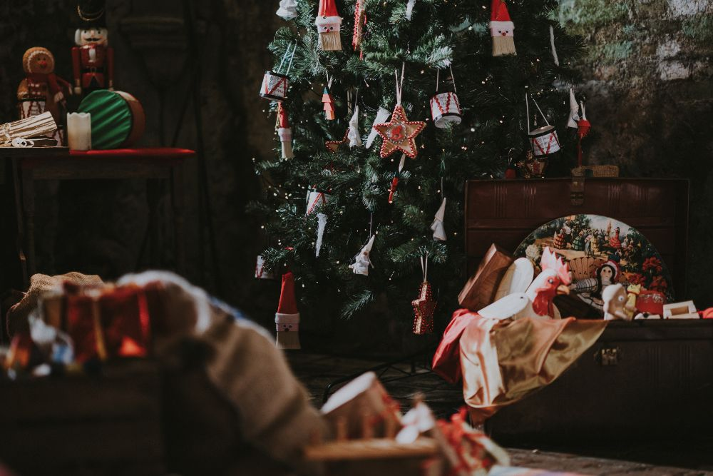Christmas装飾された部屋